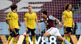 Aston Villa beat Arsenal 1-0. AFP