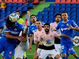 Getafe failed to capitalise on the extra man against Espanyol. AFP