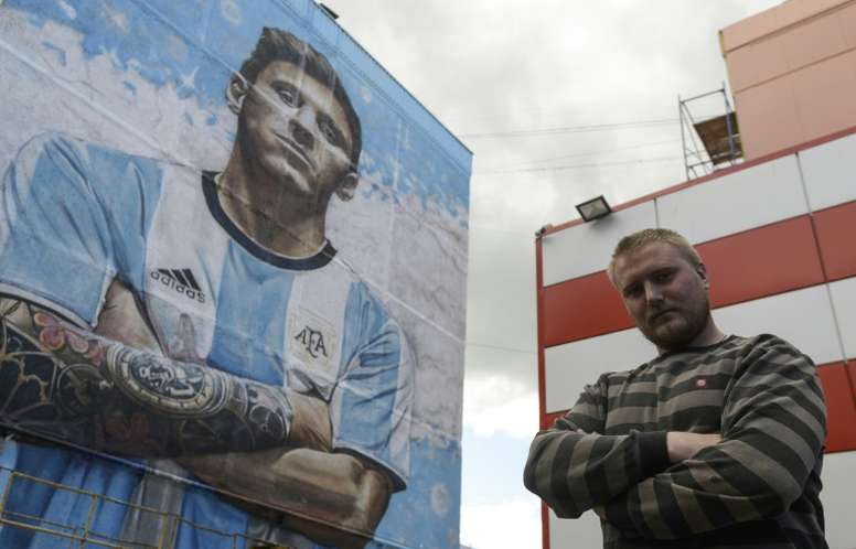 Russian Artist Unveils Giant Mural In Tribute To Messi Besoccer