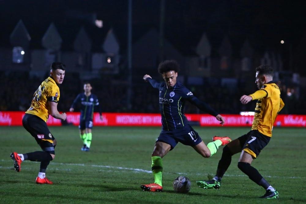 Mahrez anotó el cuarto del partido. AFP