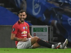 Bruno Fernandes got a double in United's win at Brighton. AFP