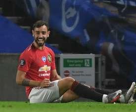 Bruno Fernandes elevou o nível do futebol do Manchester United. AFP