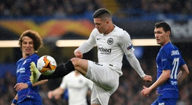 Jovic says the Bundesliga doesn't suit their style of play. AFP