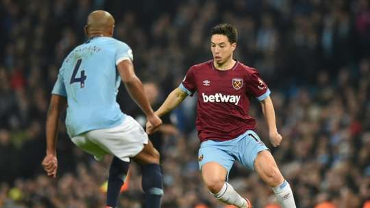 Nasri will play with Kompany at Anderlecht. AFP