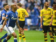 Naldo's stunning strike helped Schalke to victory. AFP