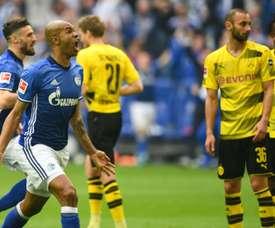 Naldo's stunning strike helped Schalke to victory. AFP