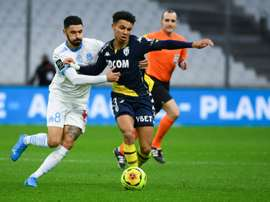 Marseille midfielder Morgan Sanson (L) is on the radar of Aston Villa. AFP