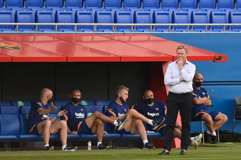 Barcelona's game against Villarreal marks Ronald Koeman's first competitive match as coach. AFP