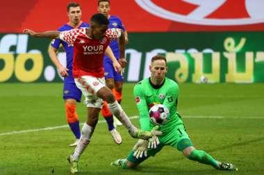 Leandro Barreiros goal condemned RB Leipzig to a third defeat of the Bundesliga season. AFP