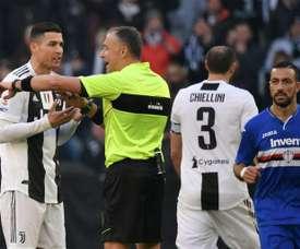 Cristiano Ronaldo is no longer Serie A's outright top scorer. AFP