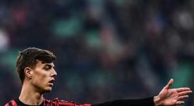 Daniel Maldini é um dos jovens revelados recentemente no Milan. AFP