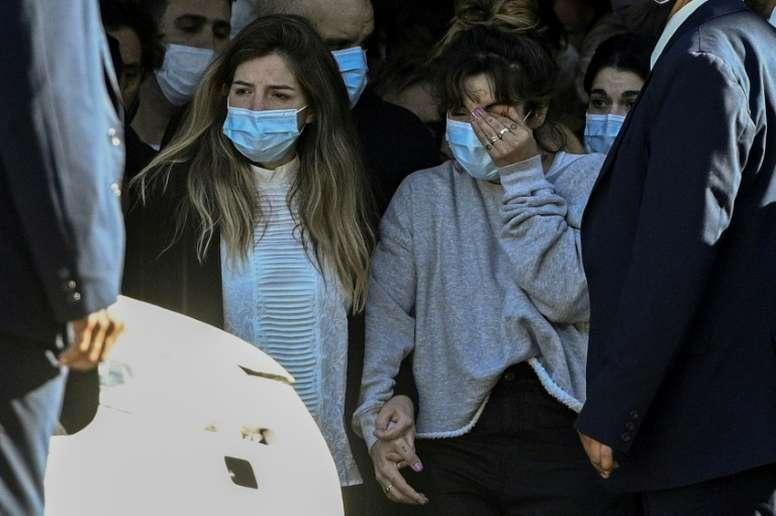 Maradona's death may trigger a family inheritance battle. AFP