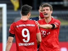 Bayern missing Mueller, Lewandowski for potential title-clincher. AFP