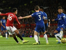 Greenwood rescued a point for Man Utd v Everton. AFP