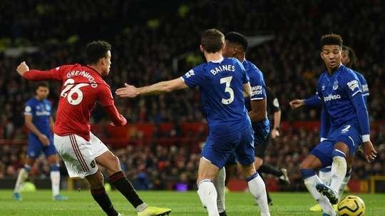 Greenwood rescued a point for Man Utd v Everton. AFP