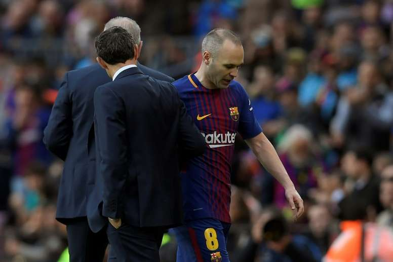Barcelona will make a late decision on the fitness of captain captain Andres Iniesta. AFP