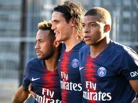 O Mbappé, Neymar e Cavani está de volta ao PSG. AFP