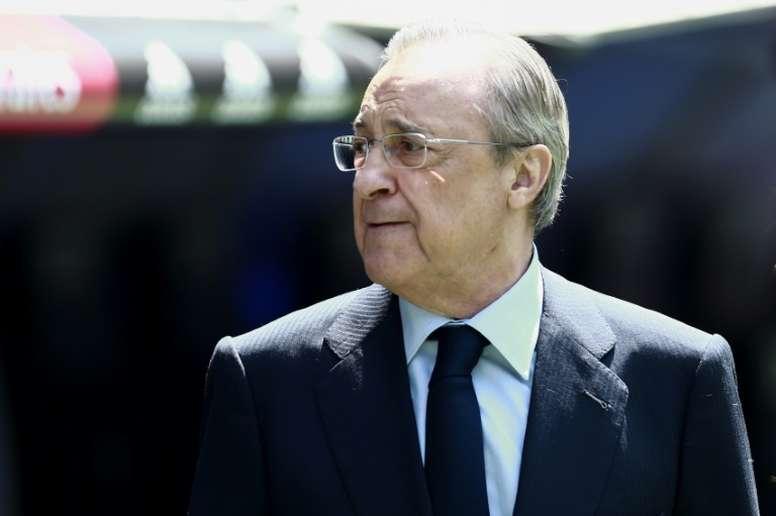 Florentino admitió el interés por Eden Hazard. AFP