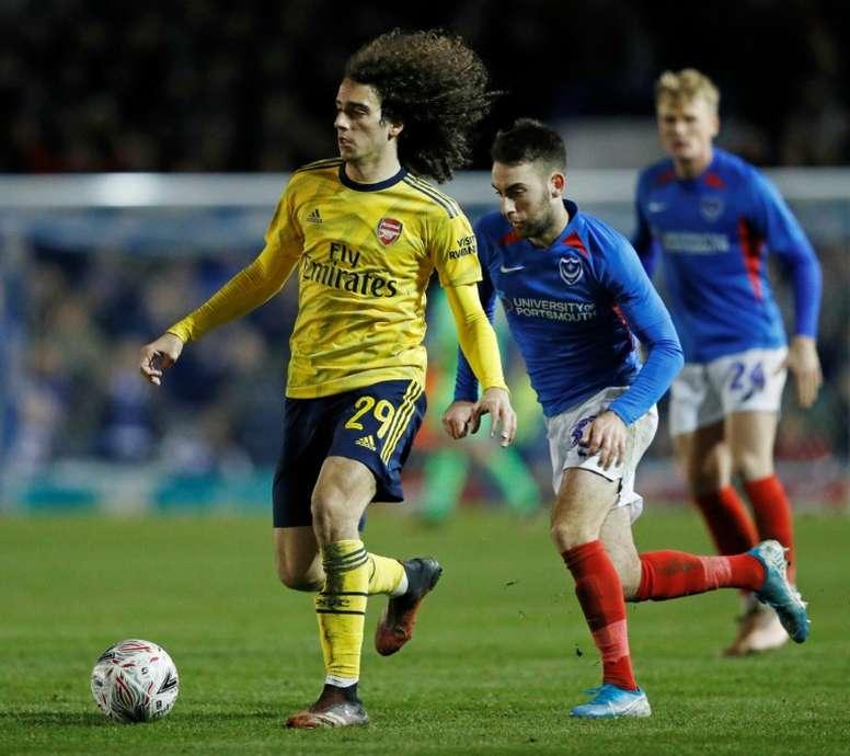 El Arsenal está contento con el trabajo de Guendouzi. AFP