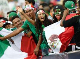 Mexico fans cheer before the 2015 CONCACAF Gold Cup final against Jamaica in Philadelphia on July 26, 2015