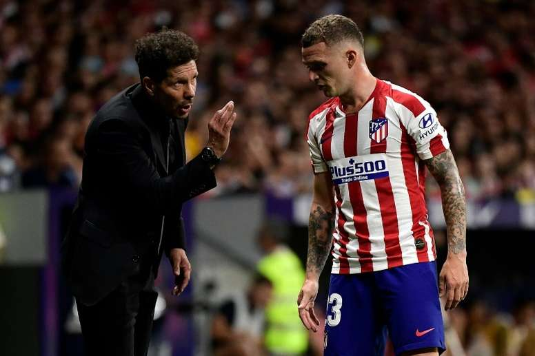 El lateral inglés está cuajando una gran temporada en el Atlético. AFP