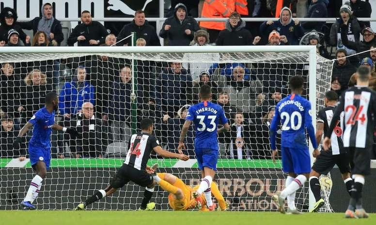 Newcastle won 1-0. AFP