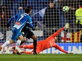 Moreno fez o único gol da partida. EFE