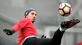Manchester Uniteds Swedish striker Zlatan Ibrahimovic. AFP