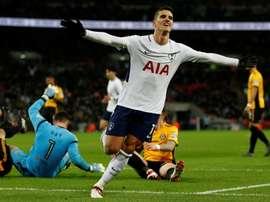 Lamela marcó el segundo gol del Tottenham. AFP