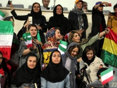 Women pictured during Iran's clash against Bolivia. AFP