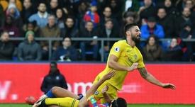 Olivier Giroud s'est blessé. AFP