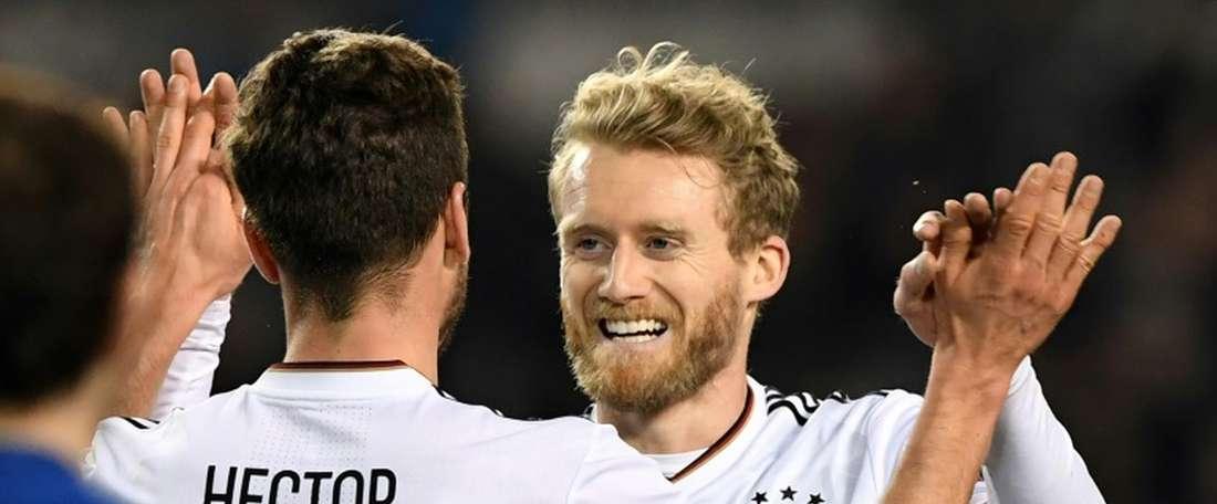 Alemanha goleou o Azerbaijão. AFP