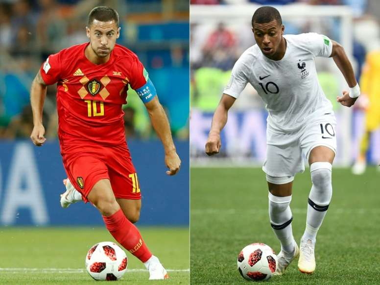 Hazard and Mbappe are likely to be key to their respective sides. AFP
