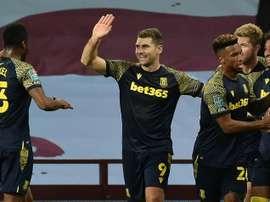 Stoke beat Aston Villa. AFP
