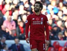 Mohamed Salah scored his sixth league goal this term. AFP