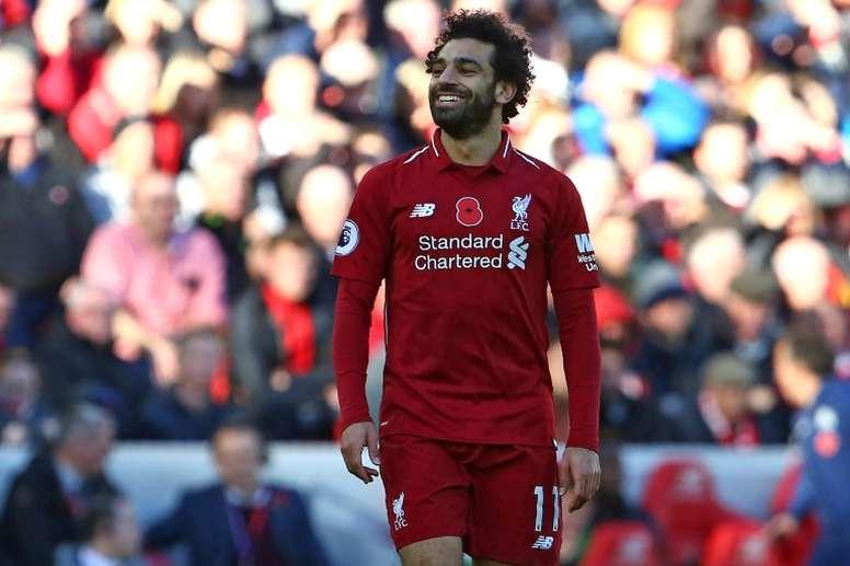 A Juve estuda a contratação de Salah. AFP