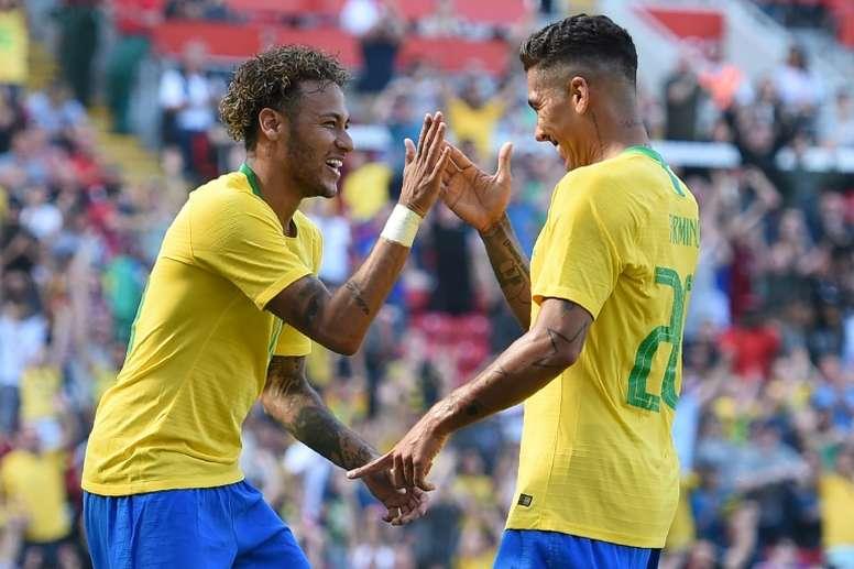 Neymar and Firmino were both on target against Croatia. AFP