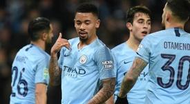 Jesus scored four of the nine goals. AFP
