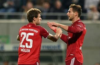 Müller abrió la cuenta, y Lewandowski forzó el autogol que la cerró. AFP