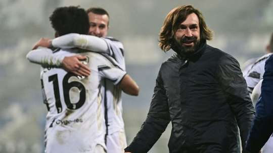 Pirlo parla in conferenza stampa. AFP