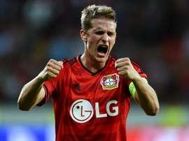 Leverkusen sobe ao 4º lugar à condição. AFP