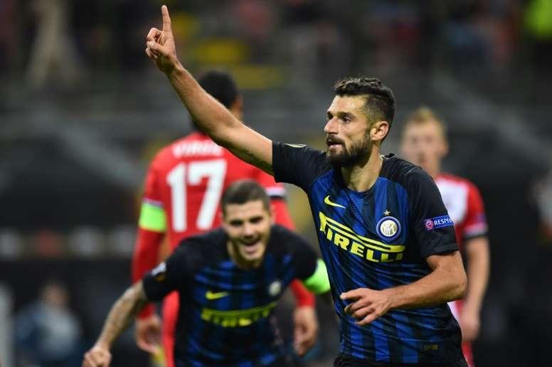 Candreva pode rumar à Premier League. AFP