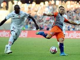 Montpelier striker Andy Delort. AFP