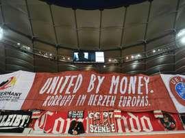 Stuttgart's fans are against Germany hosting the 2024 European Championships. AFP