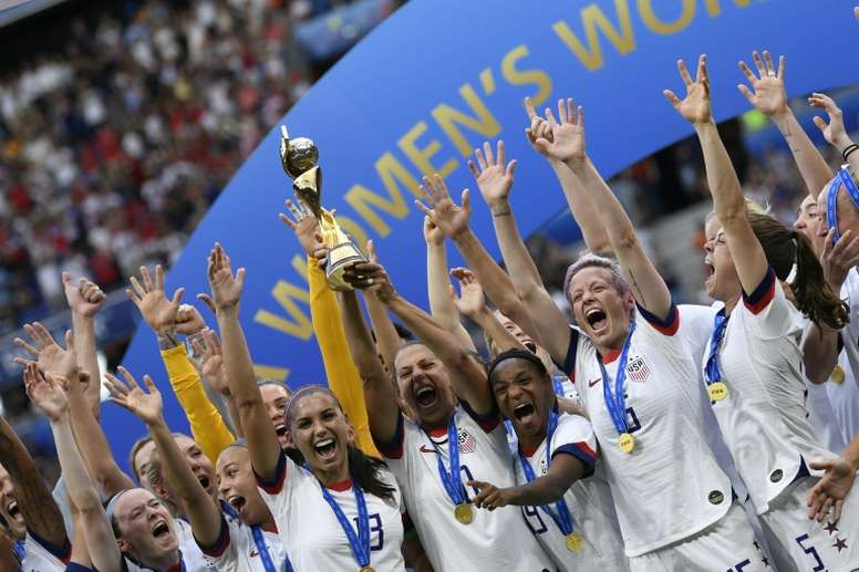 The World Cup-winning US womens team will be honoured with a parade. AFP