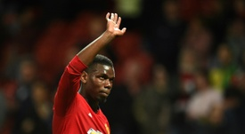Paul Pogba could go to Real Madrid if Bruno Fernandes moves to Man Utd. AFP