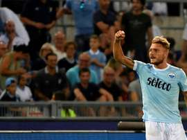 Immobile has signed a new deal with Lazio. AFP