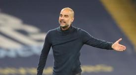 Pep Guardiola spoke out against fixture bloat. AFP
