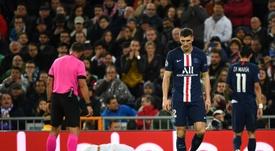 El belga se lesionó durante un partido de Champions. AFP