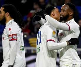 Lyon won 2-1. AFP